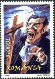 Dracula on a Stamp from Romania