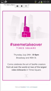 Friday 24 dont miss #seemetakeover Times Square